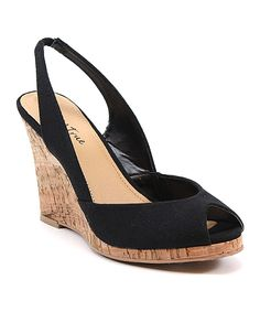 Diba True Black Dream of You Peep-Toe Wedge Fab Shoes, Comfy Shoes, Shoes Heels Boots, Wedge Shoes, Me Too Shoes, Heeled Boots, Fashion Shoes, Fashion Accessories, Peep Toe Wedges