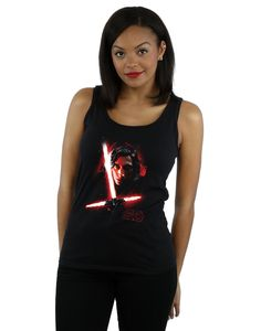 STAR WARS Femme The Last Jedi Stormtrooper Mono Cubist Helmet T-Shirt