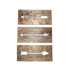 Boho Arrows Primitive Wall Art Carved Wood Home Decor