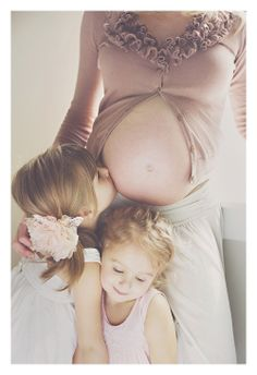 mama, belly and girls = sweet