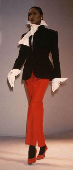 Katoucha Niane Fondazione Gianfranco Ferré / Collezioni / Donna / Prêt-à-Porter / 1988 / Autunno / Inverno