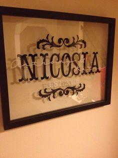 Vinyl lettering married couple frame