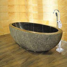 Wundershcöne freistehende Stein-Badewanne direkt hier bestellen