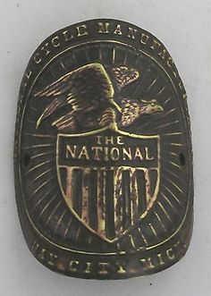 The National Bicycle Head Badge bike Name Plate antique original old vintage in Collectibles   eBay