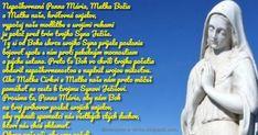 Nepoškvrnená Panna Mária, Matka Božia a Matka naša, kráľovná anjelov, vypočuj našu modlitbu a svojimi rukami ju polož pred trón tvojh... Panna, Ecards, Text Posts, E Cards