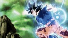UI Goku dodging blasts