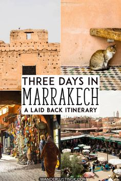 Traveling to Marrakech Morocco? Your perfect chill itinerary for Marrakech. Includes what to do in Marrakech over three days and a free map of Marrakech. #travel #Morroco #Marrakech
