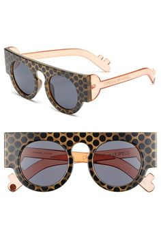 Craig and Karl x Le Specs 'Houdini' 45mm #frames #eyewear #glasses #round #shades #sunglasses #dots