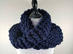 **In stock and ready to ship!**  This cowl is inspired by the knitwear seen on the TV series Outlander. It is cozy and so warm! Knit with bulky yarn