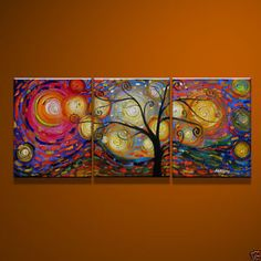 MODERN ABSTRACT CANVAS ART OIL PAINTING--tree ( no frame)