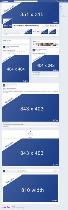 Useful #Facebook Sizing Cheat Sheet #smm