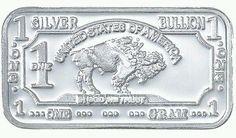 1 Gram Silver Solid .999 99.9% Fine Solid Buffalo Silver Bar Bison Buffalo Bu