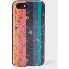 Paul Smith Coque Pour iPhone 7 'Artist Stripe' Motifs Fleuris... ($65) ❤ liked on Polyvore featuring accessories, tech accessories, artist stripe and paul smith