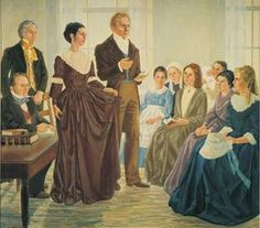 Joseph Smith Organizes the Relief Society with Emma Smith as the first president. Joseph Smith, Church News, Lds Church, Lds Seminary, Book Of Mormon, Mormon Stories, Lds Mormon, Lds Art, Church History