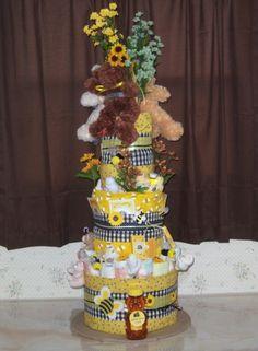 Bees and Bears Diaper Cake