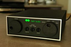 The 80s chrome bumper version of the Nait 2, a shoebox-sized amplifier from the legendary British hi-end manufacturer Naim (http://en.wikipedia.org/wiki/Naim_Audio). According to many, besides its astonishing looks, it produces a truly beautiful sound as well.