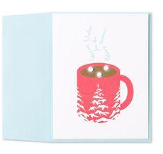 DIY Christmas Card Idea Warmest Wishes Card