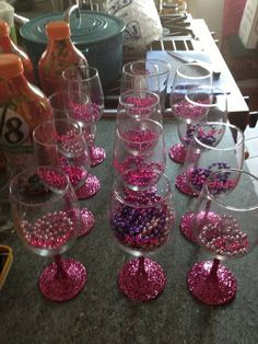 Personalized Wine Glass - Bachelorette Party: