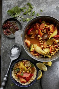 // Moroccan vegetable tagine