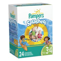 Pampers Splashers Disposable Swim Pants Size 3-4, 24 Count - http://www.discoverbaby.com/diapers/pampers-splashers-disposable-swim-pants-size-3-4-24-count/