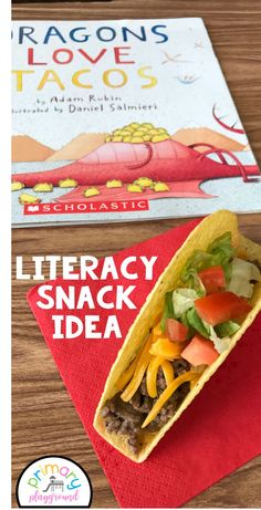 Literacy Snack Idea Dragons + Free Printable