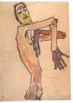 Mime van Osen with crossed arms - Egon Schiele