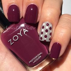 Aggie Nails: polka dots with Zoya Toni, by Aggies Do It Better
