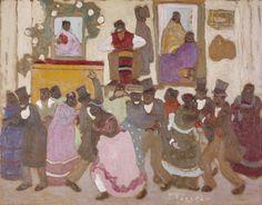 Dancing People: (Candombe) (Personas bailando: [Candombe])   Pedro Figari (Uruguay, 1861-1938)   LACMA Collections