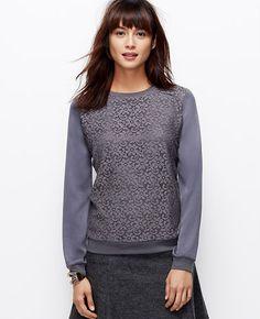 Tall Lace Woven Sweatshirt