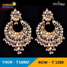 Kundan embellished dangler earrings.Shop Now- http://bit.ly/1GpubDw