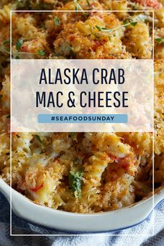 Crab Recipes, Dinner Recipes, Recipies, Crab Mac And Cheese, Mac Cheese, Seafood Dishes, Pasta Dishes, Vegetarian Recipes, Cooking Recipes