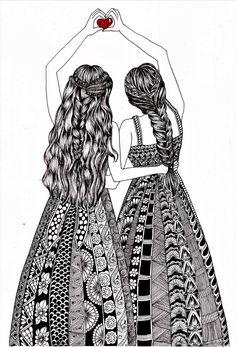 Mandala Art Therapy, Mandala Art Lesson, Doodle Art Designs, Doodle Art Drawing, Mandala Drawing, Art Drawings Beautiful, Art Drawings Sketches Simple, Friends Drawing, Zantangle Art
