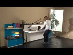 Slumberdesk Junior - desk and horizontally opening single bed - SPACEMAN