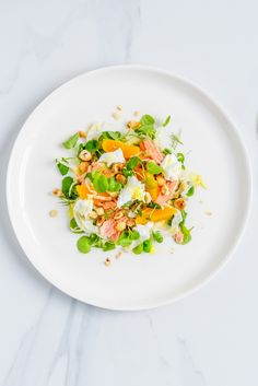 Spring Super Food Salad with watercress, salmon, fennel, orange and hazelnuts