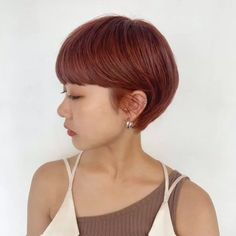 Red Color, Hair Color, Asia Girl, Short Hairstyles For Women, Short Cuts, Warm Colors, Short Hair Styles, Hair Cuts, How To Make