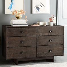 Emmerson™ Reclaimed Wood 6-Drawer Dresser - Chestnut