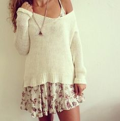 Brandy Melville. Like this sweater but not much else. The skirt would look good but not with the skirt