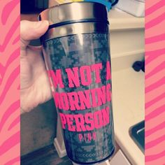 vs pink • travel mug