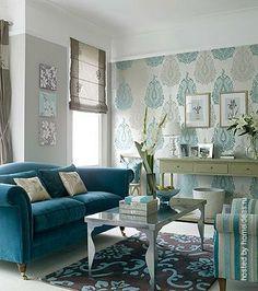 Все оттенки голубого... - Форум о дизайне интерьера Обои+покраска