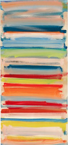 Painting by Patrick Heron, 1958, Atmospheric strata: February, oil on canvas.