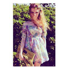 Womens Off Shoulder Floral Print Chiffon Dress