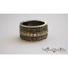 Anel em Ouro e Prata com Zircónios Ref: AJ5968