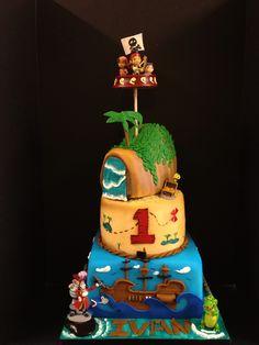 Jake And the Neverland Pirates cake www.imagineitcake.com