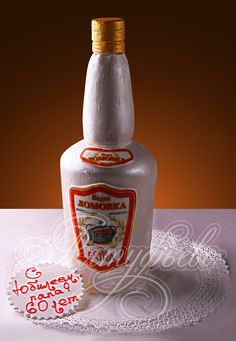 Подарочный торт бутылка водки № 348