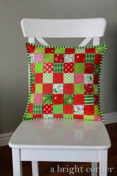 Cute quilted Christmas pillow
