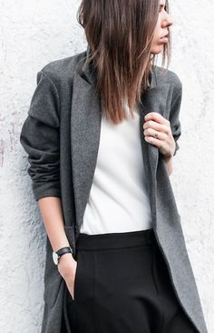 coat, shirt, and pants Minimal Chic, Minimal Fashion, Fall Outfits, Fashion Outfits, Fashion Weeks, Trends, Autumn Winter Fashion, Winter Style, Her Style
