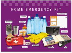 Emergency kit Home Emergency Kit, Emergency Preparedness Food Storage, Emergency Planning, In Case Of Emergency, Prepper Supplies, Emergency Supplies, Hurricane Kit, Provident Living, Survival Stuff