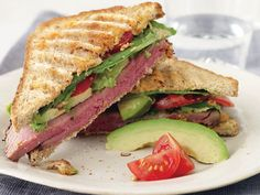 Hearty Roast Beef Panini http://www.prevention.com/weight-loss/flat-belly-diet/flat-belly-diet-recipes-that-help-you-lose-belly-fat/slide/3