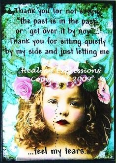 FEEL MY TEARS altered art therapy recovery grief collage ATC ACEO PRINT. $4.99, via Etsy.