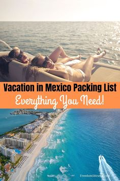 Vacations in Mexico in the Riviera Maya, Cancun, Playa Del Carmen, Puerto Vallarta and Cabo San Lucas are the best! Make sure you know the simple things you need to bring to your all-inclusive resort so your Mexican vacation is the best ever! #rivieramaya #cancun #puertovallarta #simple #packinglist #mexico #allinclusive #outfits #carryonbag